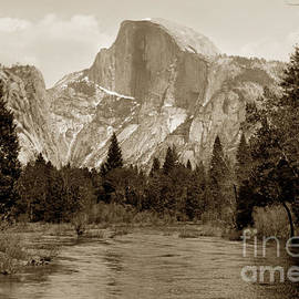 Half Dome Merced River Yosemite Valley Circa 1910 by California Views Archives Mr Pat Hathaway Archives