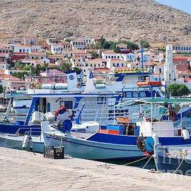 David Fowler - Halki boats in Greece