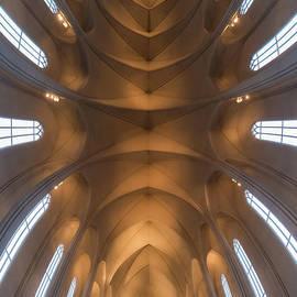 Hallgrimskirkja Interior Vertorama  by Michael Ver Sprill
