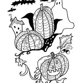 Halloween Ink Coloring Book Image by Robin Maria Pedrero
