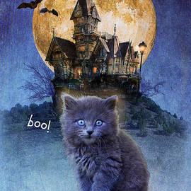 R christopher Vest - Halloween Kitten