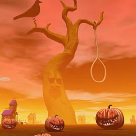 Halloween scene by Elenarts - Elena Duvernay Digital Art