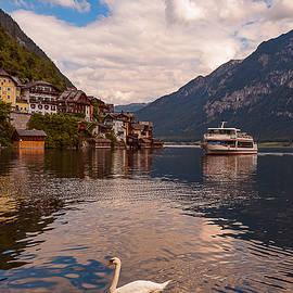 Hallstatt Austria Ferry by Brenda Jacobs