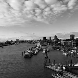 Marina Usmanskaya - Hamburg. Elbe. St. Pauli monochrome