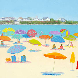 Hampton Beach Umbrellas by Jan Matson
