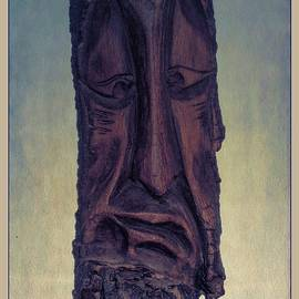 Hand Carved Wooden Face Ii