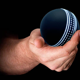 Hand Holding Cricket Ball - Allan Swart