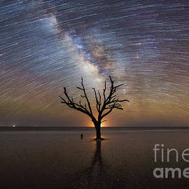 Hand Of God Milky Way Star Trail  by Michael Ver Sprill