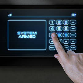 Hand Pressing Modern Home Security - Allan Swart