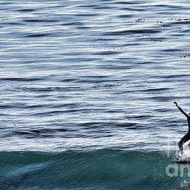Hang Ten Surfing Santa Cruz California  by Chuck Kuhn