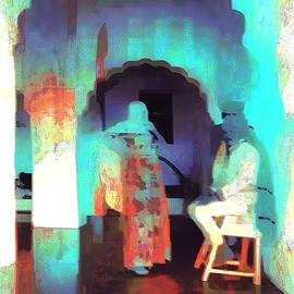 Sue Jacobi - Hanging Out Travel Exotic Arches Blue City India Rajasthan 1a