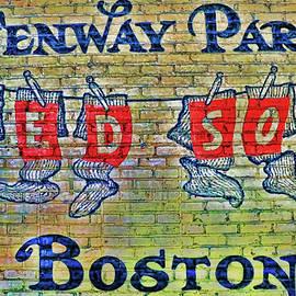 Allen Beatty - Hanging Sox Mural - Fenway Park