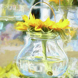Hanging Sunflower by Elaine MacKenzie