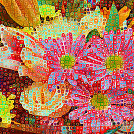Happy Dots - Gerbera Daisies by Miriam Danar