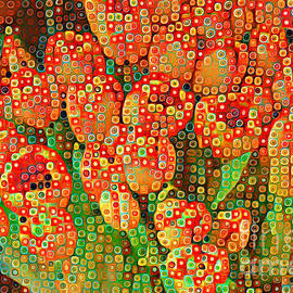 Miriam Danar - Happy Dots - Orange Tulips of Summer