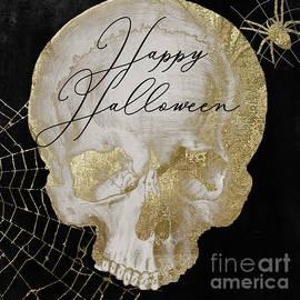 Happy Halloween Golden Skull - Mindy Sommers