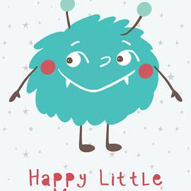 Happy Little Monster Nursery Print by Marie Burke
