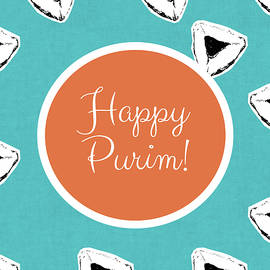 Happy Purim Hamentashen- Art by Linda Woods - Linda Woods