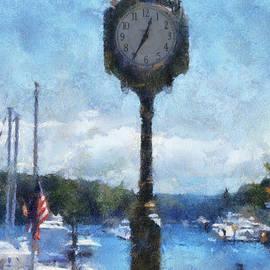 Thomas Woolworth - Harbor Clock Charlevoix Michigan PA Vertical