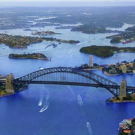 Harbour Bridge From Helicopter Flight by Miroslava Jurcik