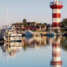 Dawna Moore Photography - Harbour Town Lighthouse in Reflection, Hilton Head Island, South