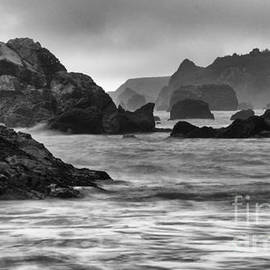 Harris Beach Oregon Monochrome by Bob Christopher