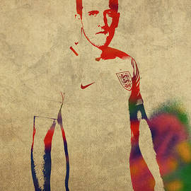 Harry Kane Watercolor Portrait - Design Turnpike