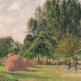 Haystacks, Morning, Eragny, 1899 - Camille Pissarro