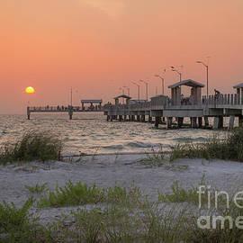 Hazy Sunset at Fort Desoto Park, Florida by Liesl Walsh