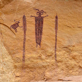 Head Of Sinbad Pictograph by Tranquil Light  Photography