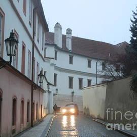 Margaret Brooks - Headlights in Prague street