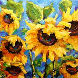 Healing light of Sunflowers by Richard T Pranke