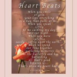 Felipe Adan Lerma - Heart Beats Greeting Card and Poster
