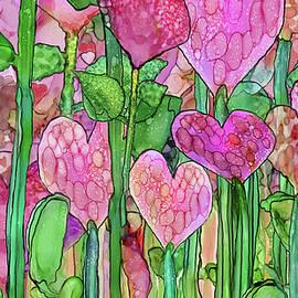 Heart Bloomies Pink-custom by Carol Cavalaris