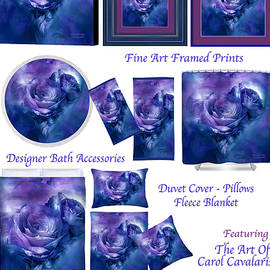Heart Of A Rose Decorator Collection by Carol Cavalaris