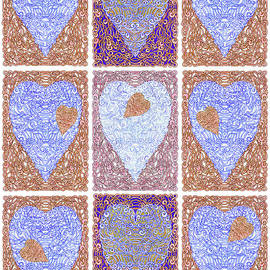 Lise Winne - Hearts Within Hearts In Copper and Blue