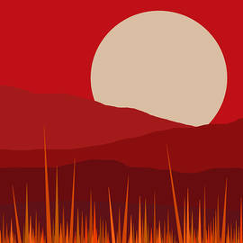 Heat - Red Sky  by Val Arie