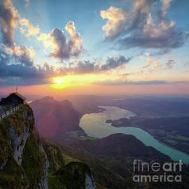 Heavens gate sunset by Silvio Schoisswohl
