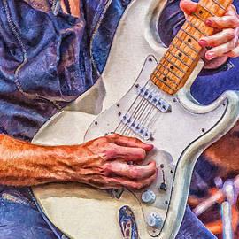 Antony McAulay - Heavy Metal Guitarist Digital Painting