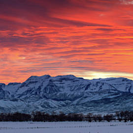 Johnny Adolphson - Heber Valley panoramic winter sunset.