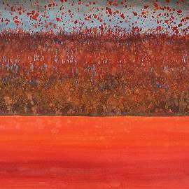 Sol Luckman - Hedgerow with Balloons original painting