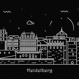 Inspirowl Design - Heidelberg Skyline Travel Poster