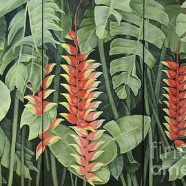 Mary Deal - Heliconia Forest Triptych