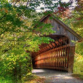 Joann Vitali - Henniker Covered Bridge - Autumn in New Hampshire