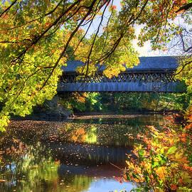 Joann Vitali - Henniker Covered Bridge in Autumn - New Hampshire
