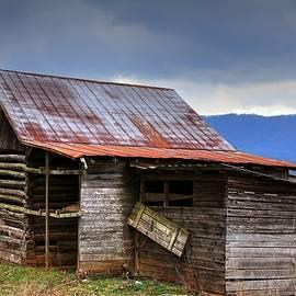 Henry Davis Log Barn In North Carolina by Carol Montoya