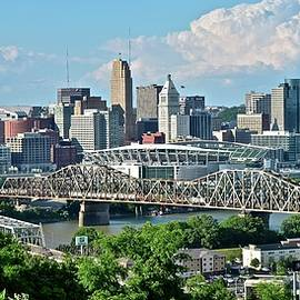 Frozen in Time Fine Art Photography - High Above Cincinnati in Panoramic Form
