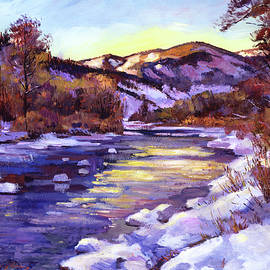 HIGH COUNTRY RIVER IN WINTER - David Lloyd Glover