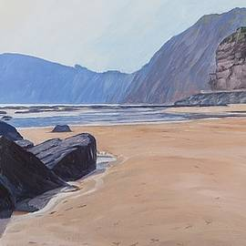 High Peak Cliff Sidmouth by Lawrence Dyer