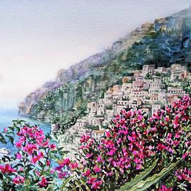 Hills Of Positano Amalfi Coast Italy - Irina Sztukowski